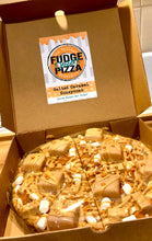 Salted Caramel Honeycomb Fudge Dessert Pizza