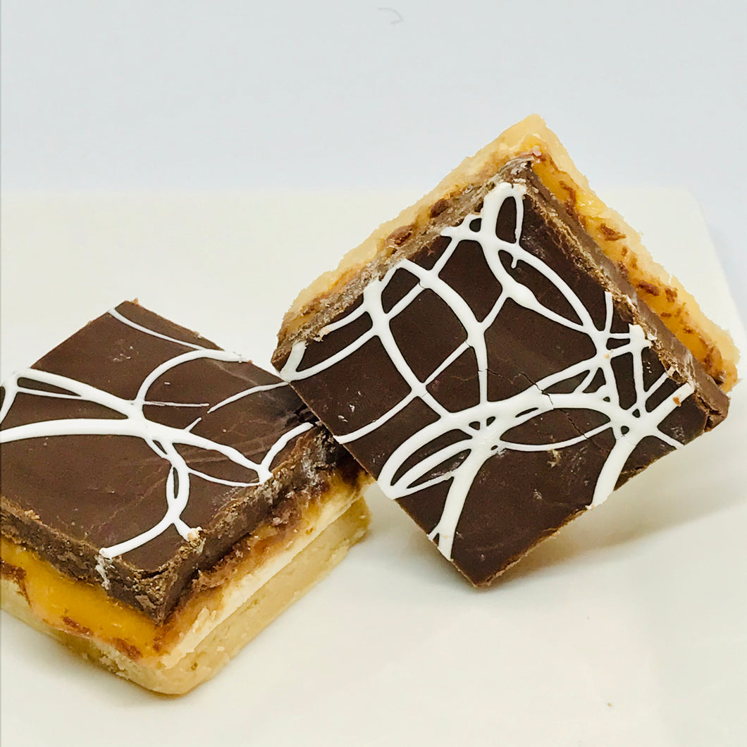 O.M.G. Fudge (Peanut Butter & Chocolate Fudges w' Caramel & Marshmallows)