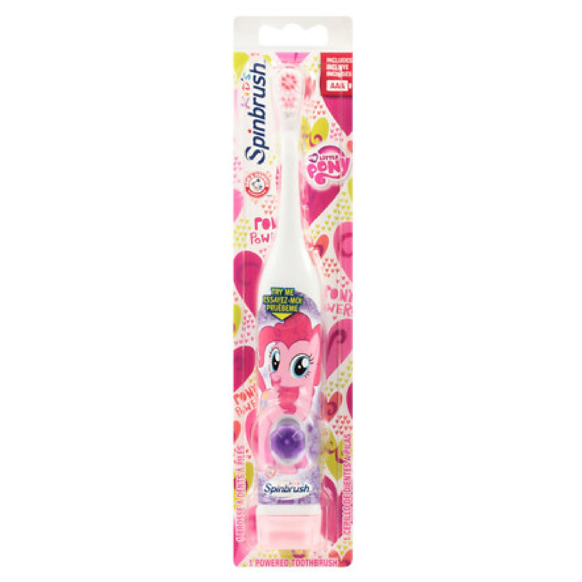 2 x Spinbrush My Little Pony Kids Electric Toothbrush