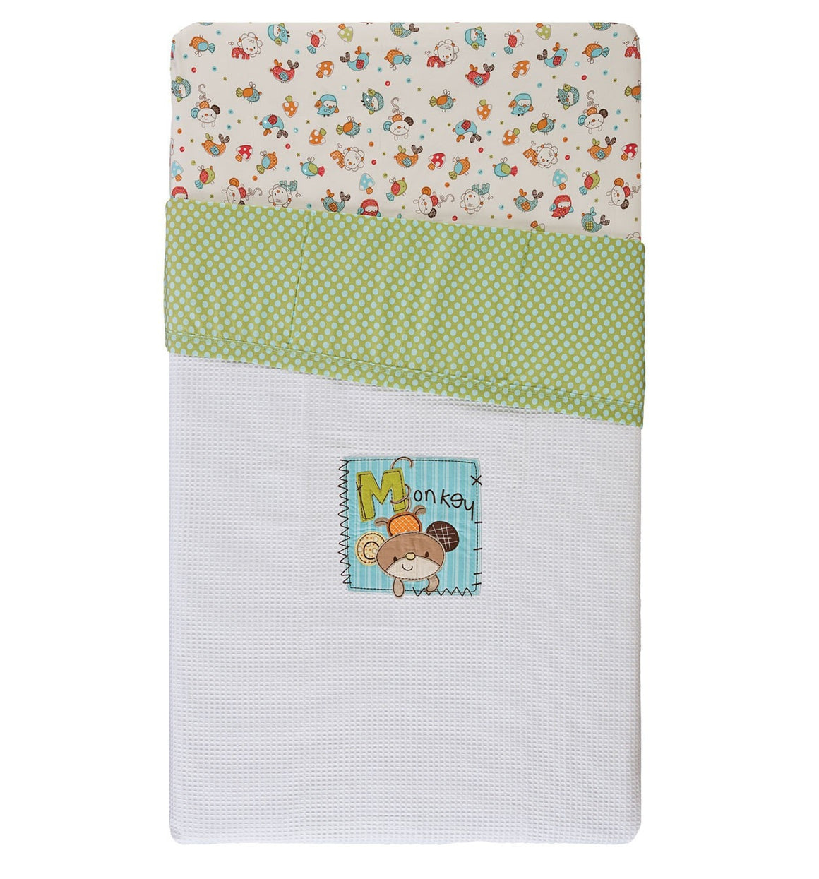 2x Hopscotch Theme Cot Waffle Blanket Just $25
