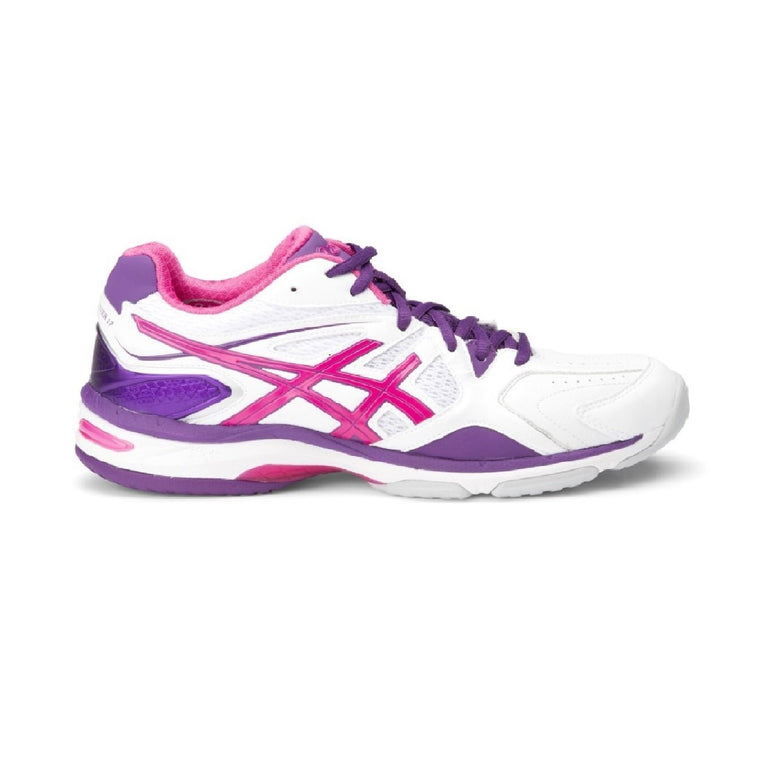Ladies Asics Gel Netburner 17D, White/Burnt Red/Barossa