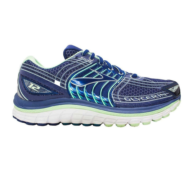 Ladies Brooks Glycerin 12 Running Shoe, Blueprint