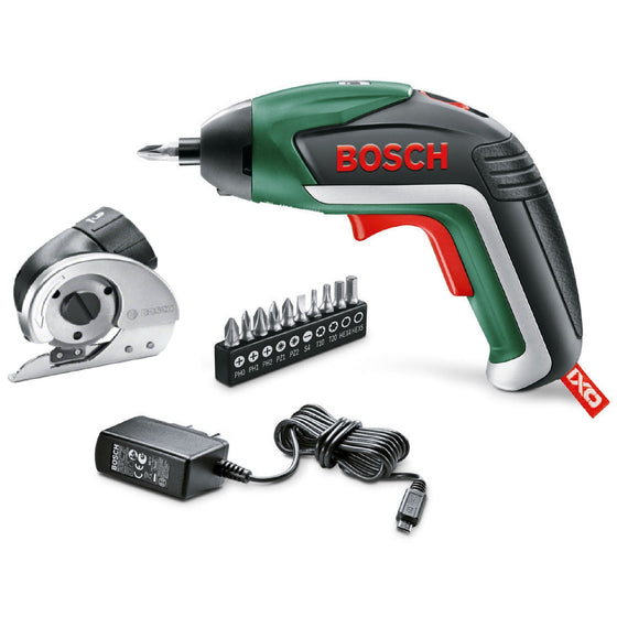 Bosch IXO Cordless Screwdriver with Universal Cutting Adapter