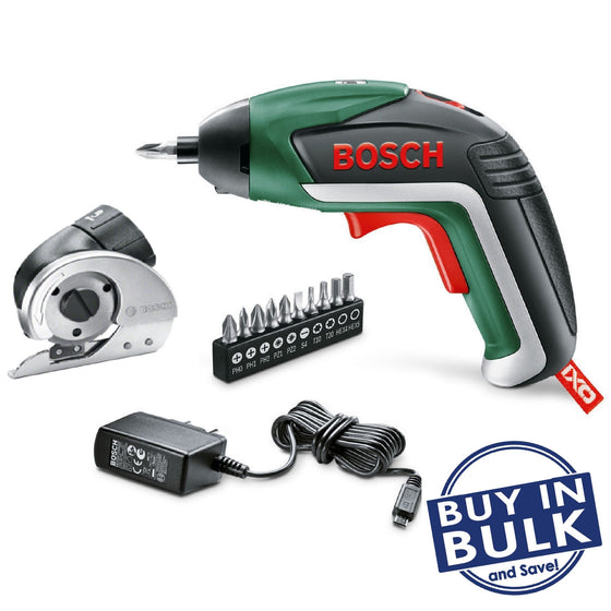 Bosch IXO Cordless Screwdriver with Universal Cutting Adaptor