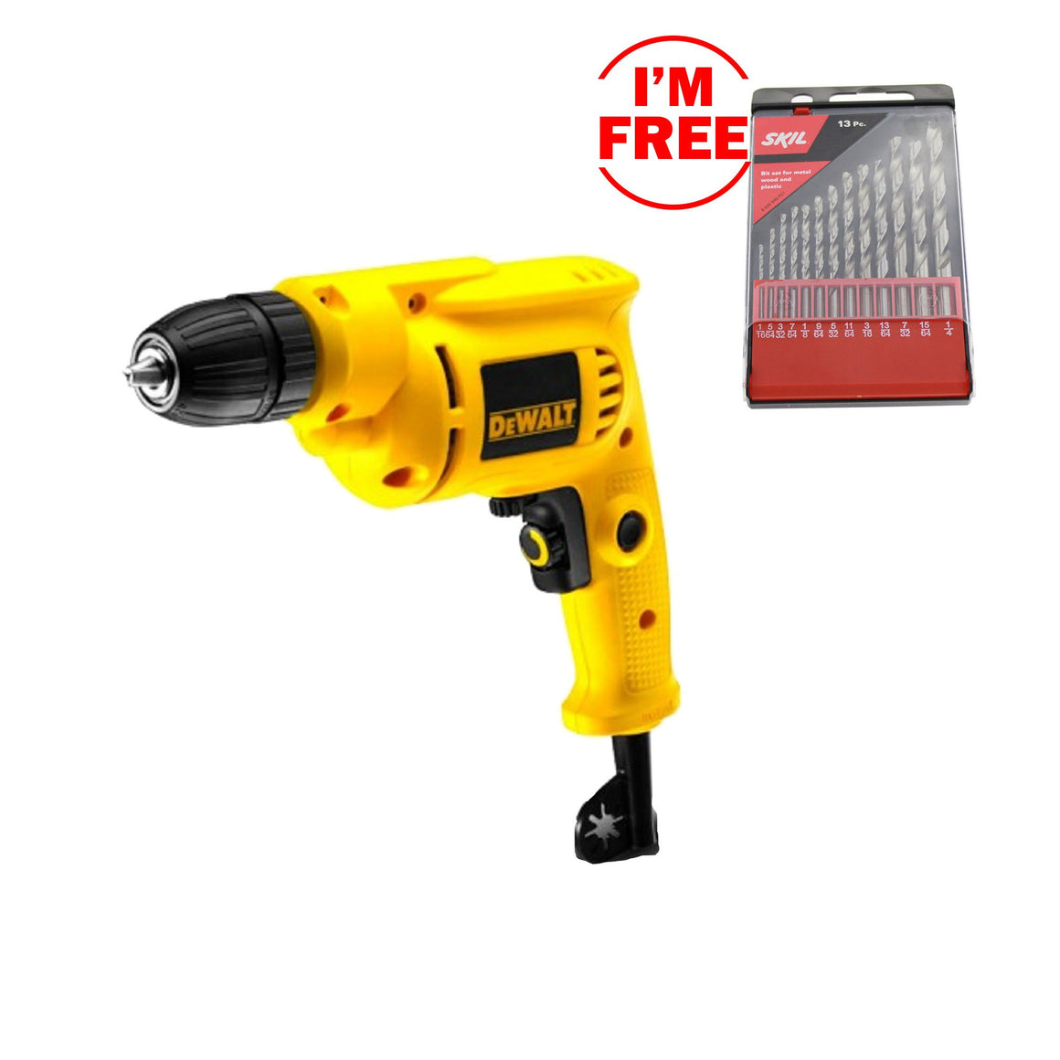 DeWalt Rotary Drill with Keyless Chuck