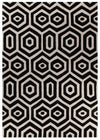 Gold Collection 624 Black & White Rug