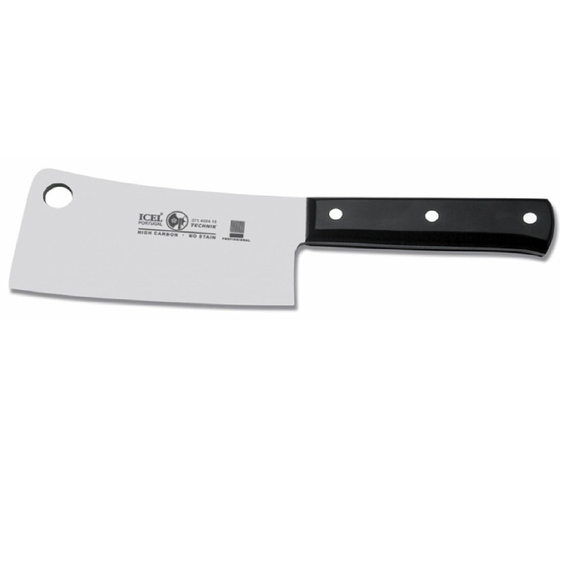 Icel Cleaver 23cm, Black Handle