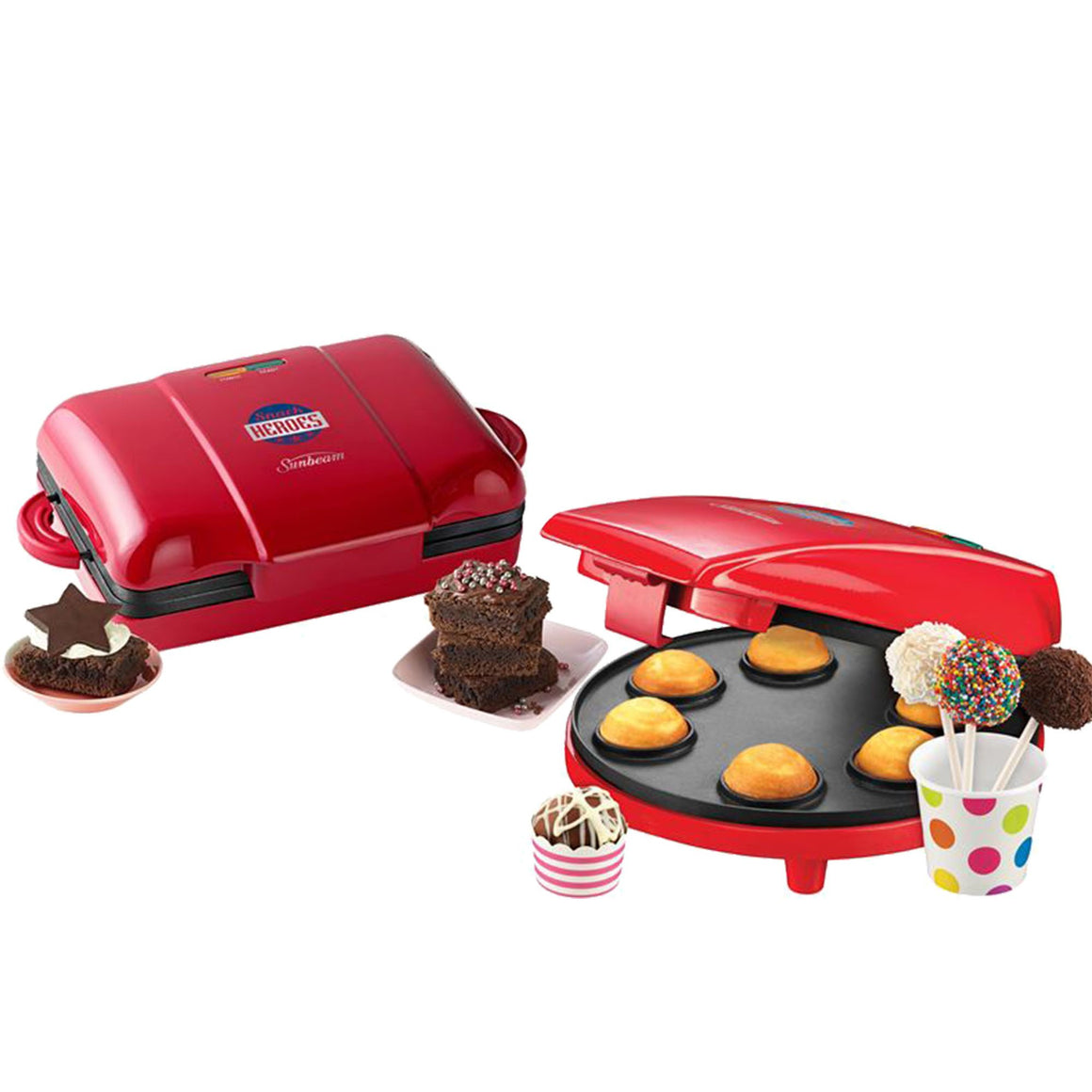 Sunbeam Snack Heroes Brownie & Cake Pop Maker Bundle