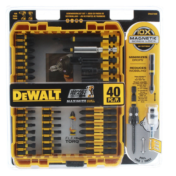 Dewalt Screwdriver Set 40 Piece Impact Ready