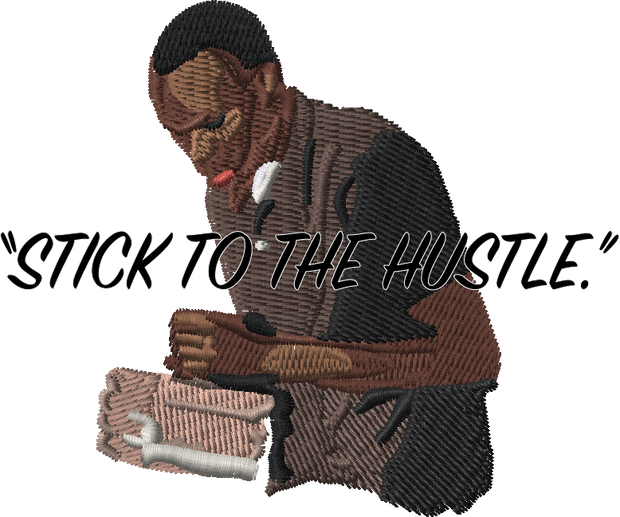 """Stick To The Hustle"" By $$ - Ace - Pocket T-Shirt"