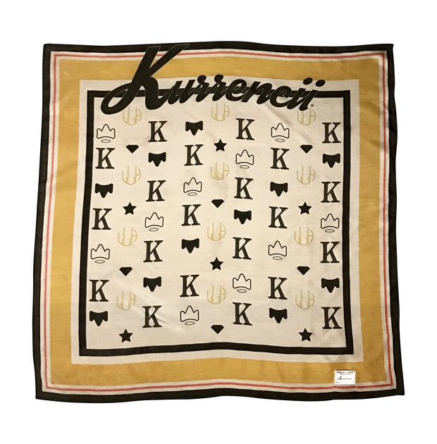 ORIGINAL KURRENCII MONOGRAM SILK SCARF