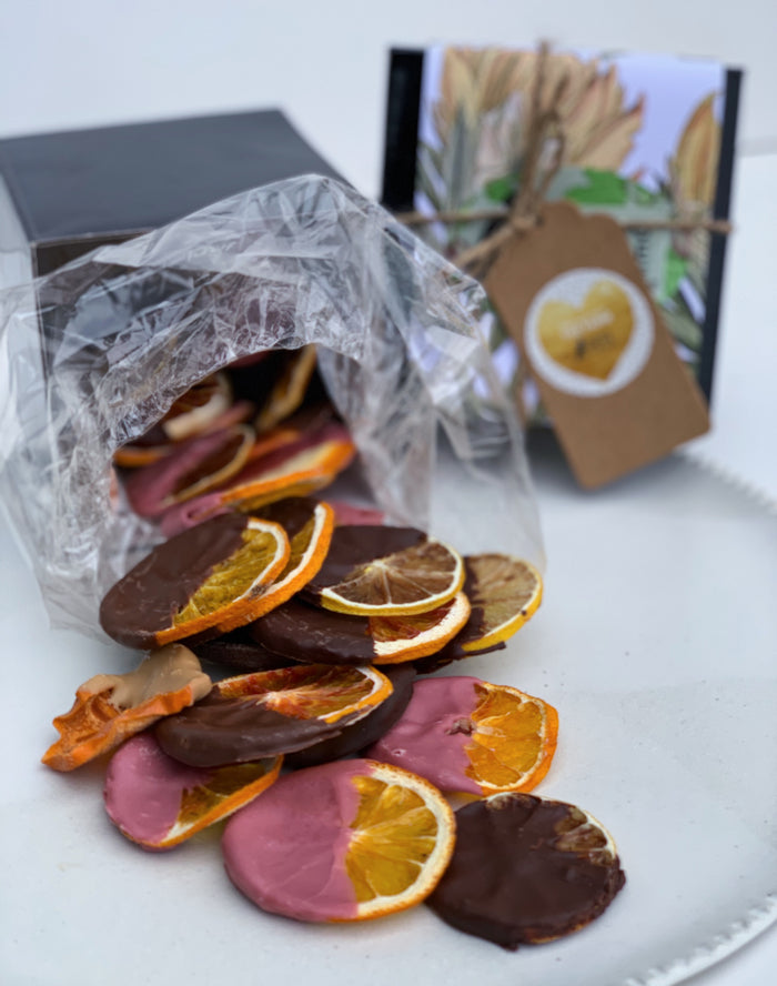 A5 Winter Giftbox SPECIAL- Chocolate Dipped Citrus with some bonus love (GST incl)