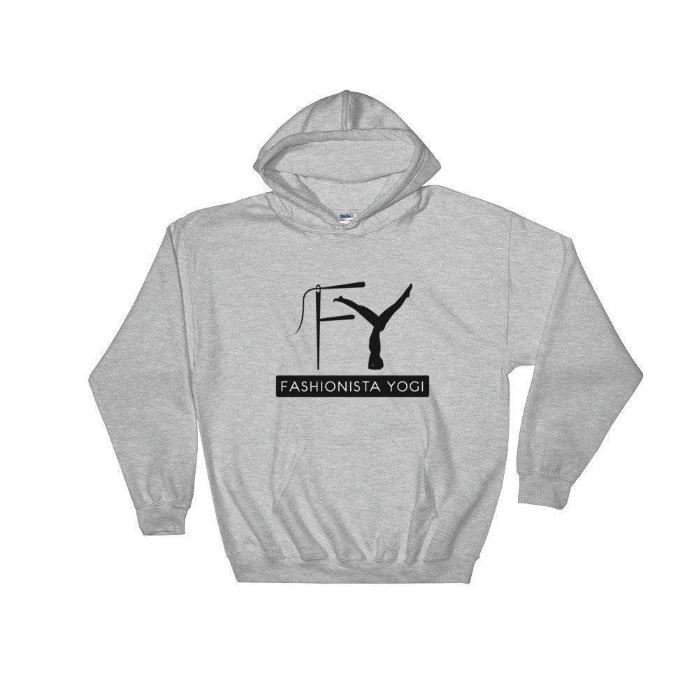 Fashionista Yogi Hooded Unisex logo Sweatshirt