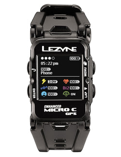 Lezyne Micro C GPS watch bundle (Black/Cyan)