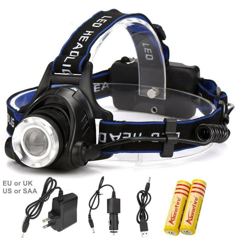 Rechargeable Headlamp + Battery Charger