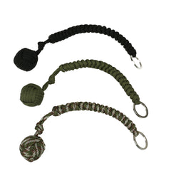 Stainless Steel Ball Pendant Paracord Key Chain -