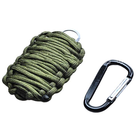 Paracord Grenade With Carabiner Hook Multi Function Fishing Kit