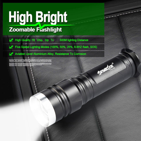 XM-L T6 Tactical Torch Lamp LED Flashlight w/ 5 Lighting Modes