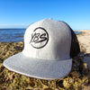 Flat Peak Trucker Cap Light Grey/Black