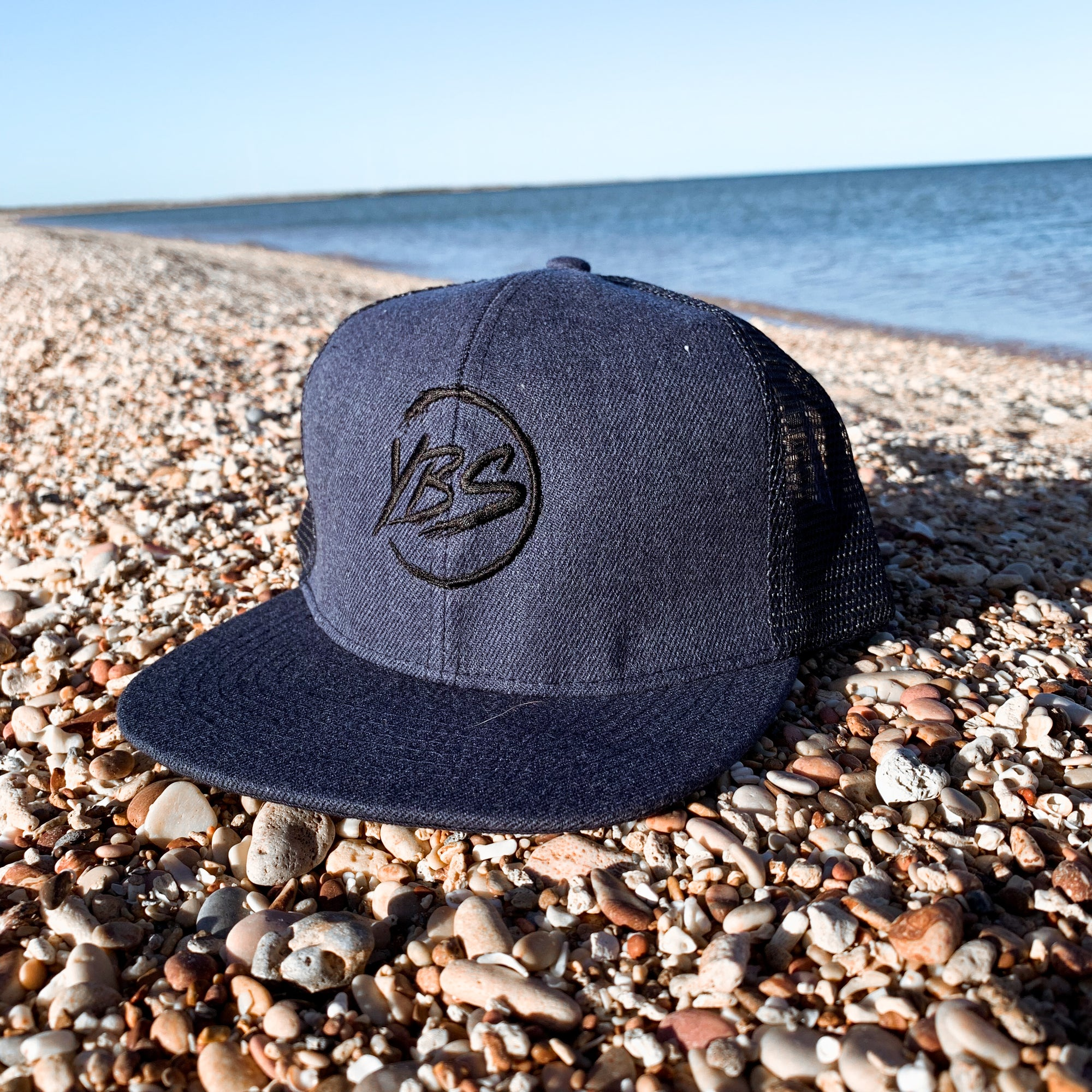 Flat Peak Trucker Cap Navy/Black