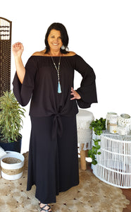 Gypsy Off Shoulder Top black