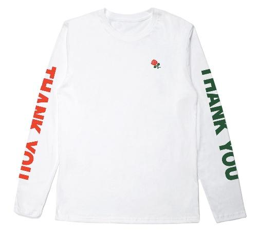 THANK YOU LONG SLEEVE WHITE