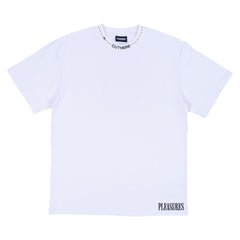 PLEASURES CUT HERE HEAVY WEIGHT WHITE SHIRT
