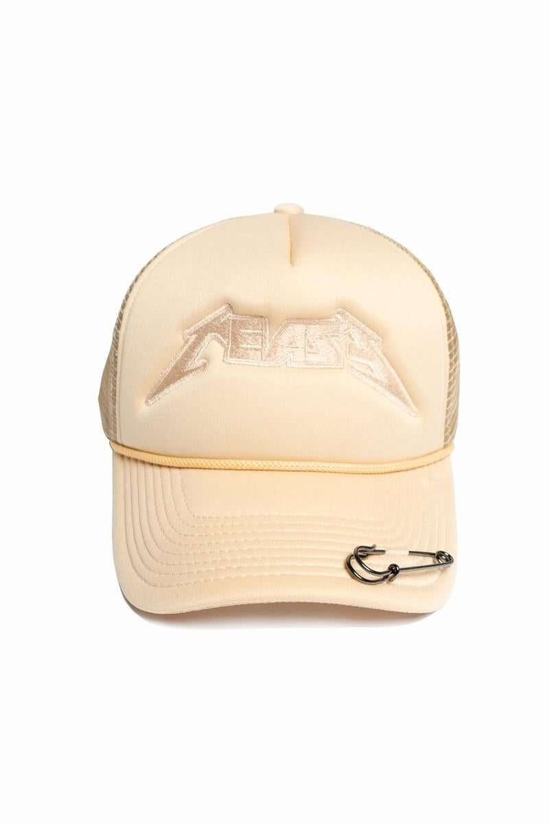 CEASE & DESIST TOUR TRUCKER HAT BEIGE