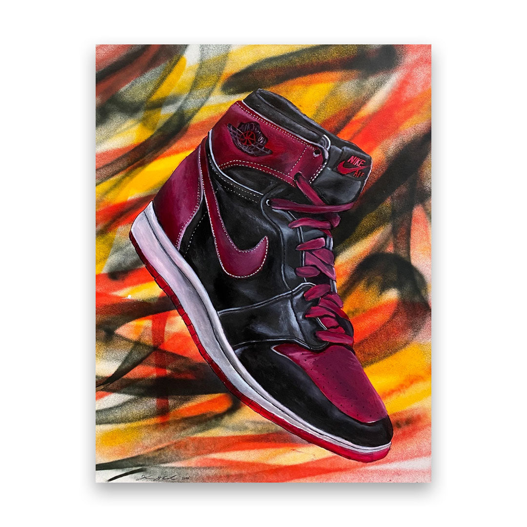AIR JORDAN 1 BRED BY SHANE SALVADOR