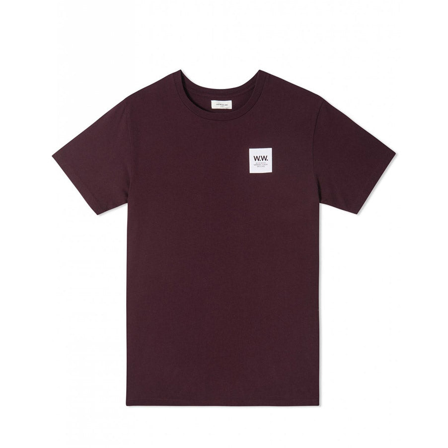 WW BOX T-SHIRT BURGUNDY