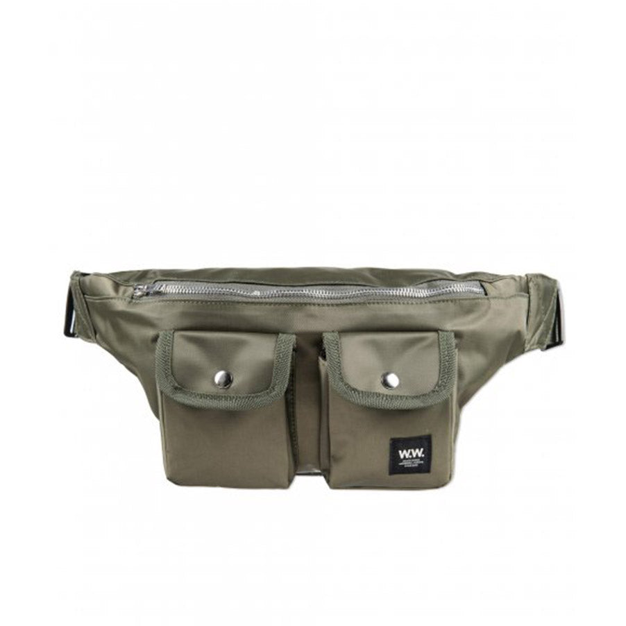 GRAY BUMBAG DARK GREEN