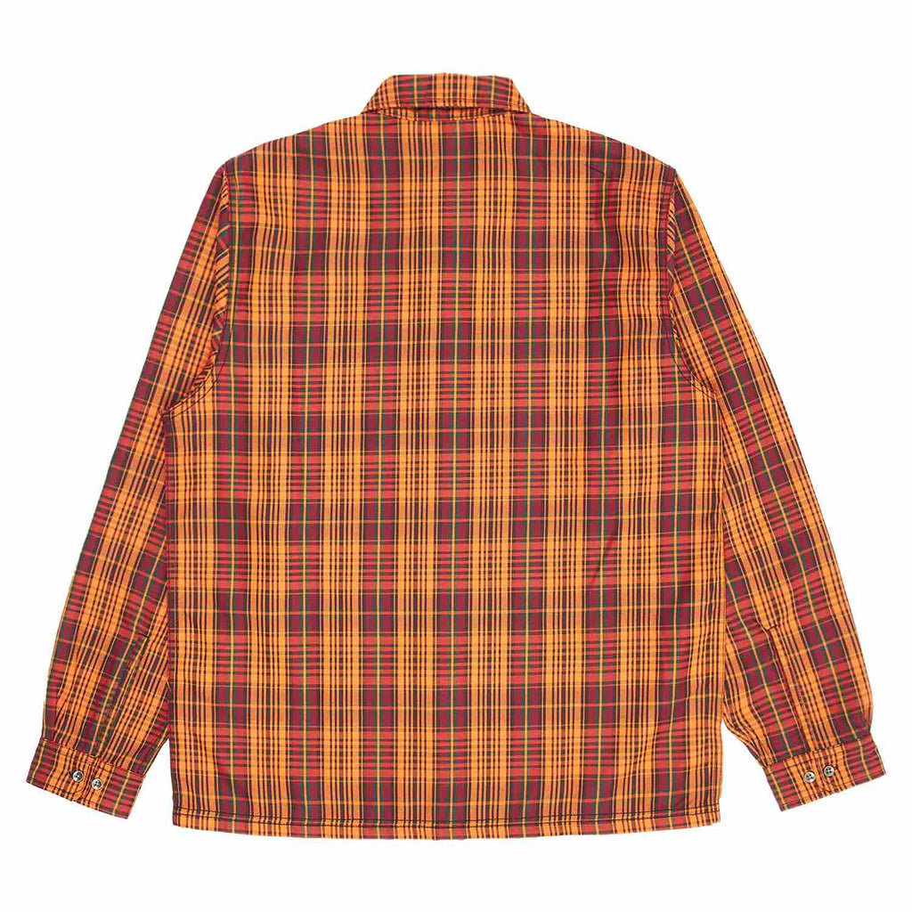 PLEASURES SHADE PLAID WORK SHIRT ORANGE