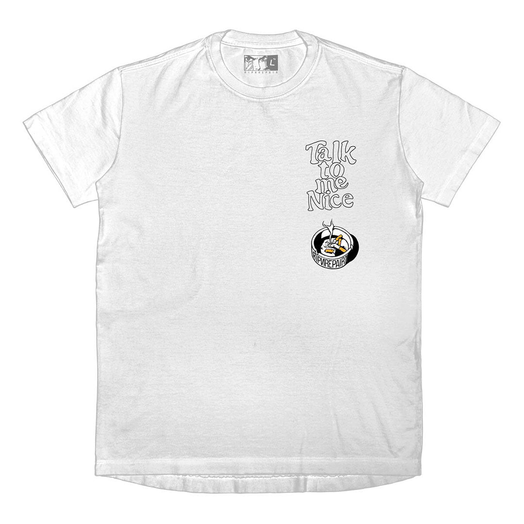 RIP N REPAIR - BABY GIRL TEE - WHITE