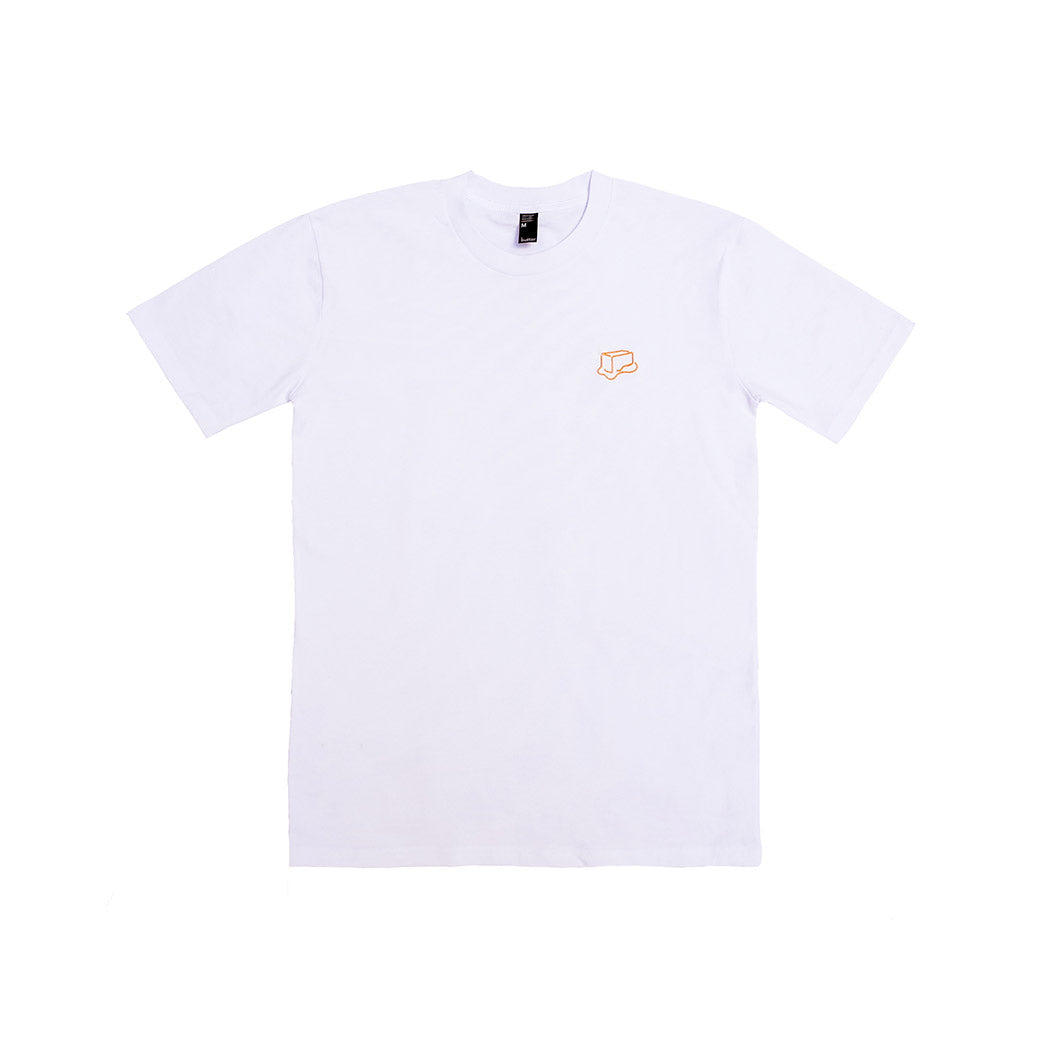 BUTTER EMBROIDERED LOGO T-SHIRT WHITE/GOLD
