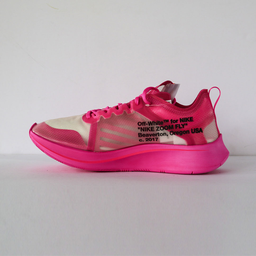 "Off-White x NIke Zoom Fly ""Pink"""