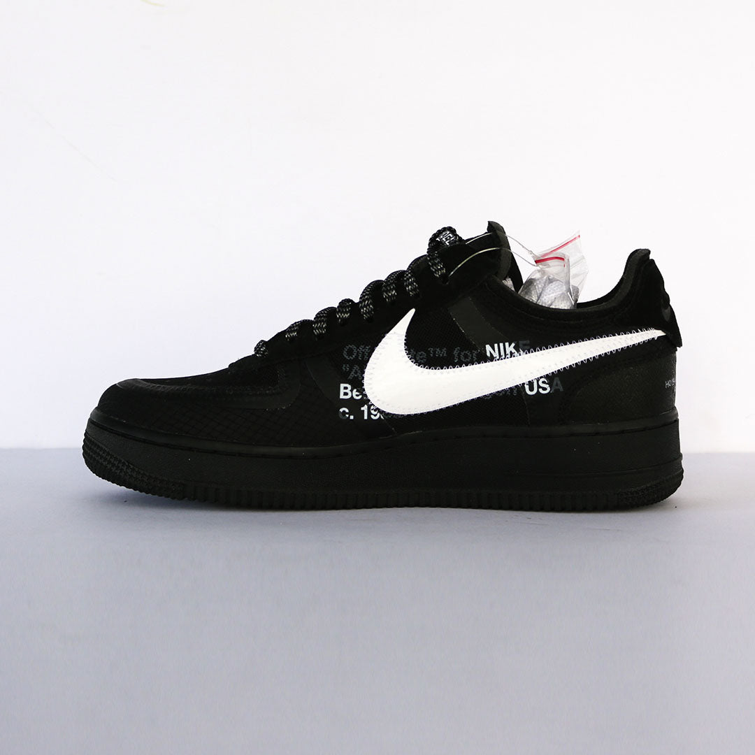 "Off White x Nike Air Force 1 Low ""Black"""