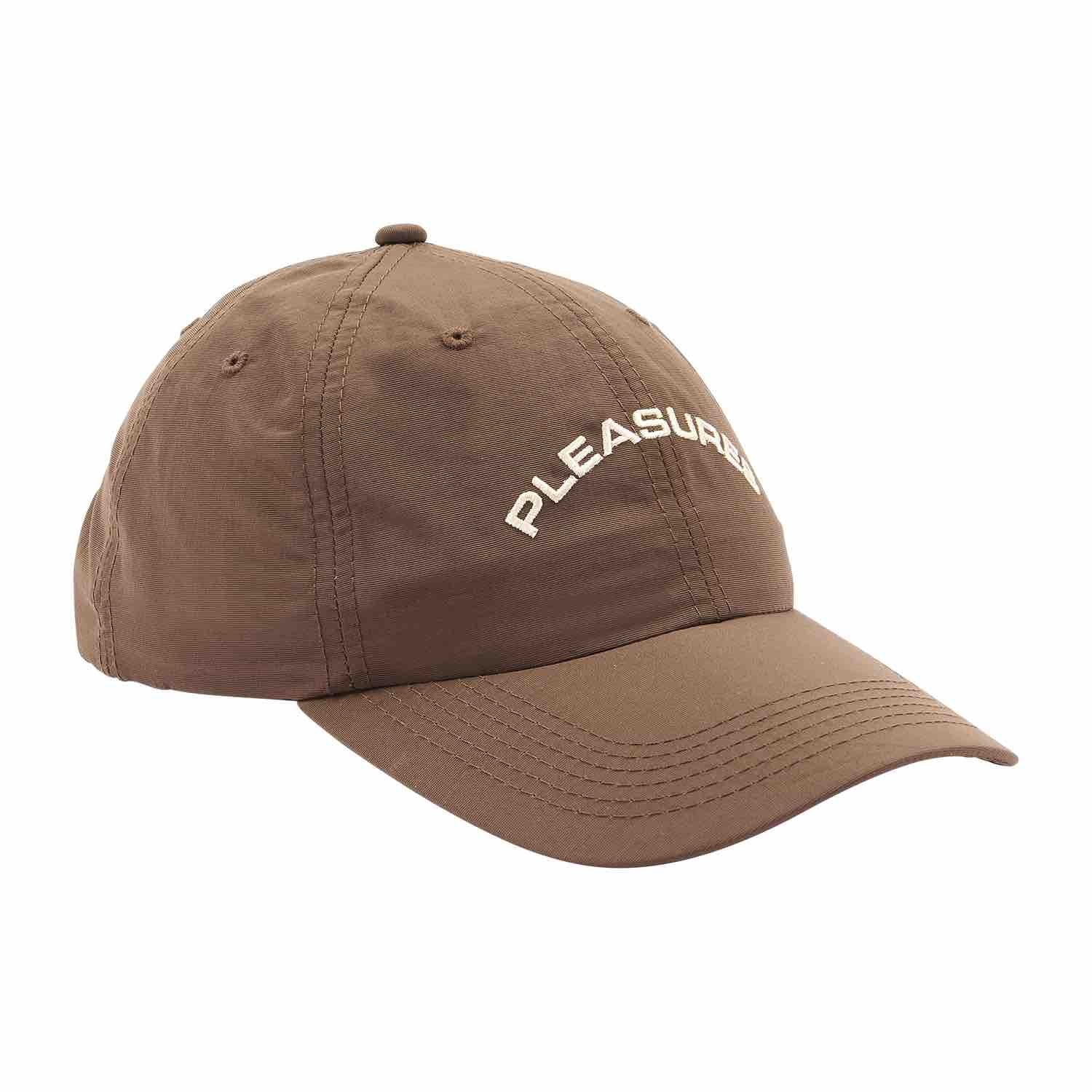 PLEASURES DESTINY NYLON POLO CAP BROWN