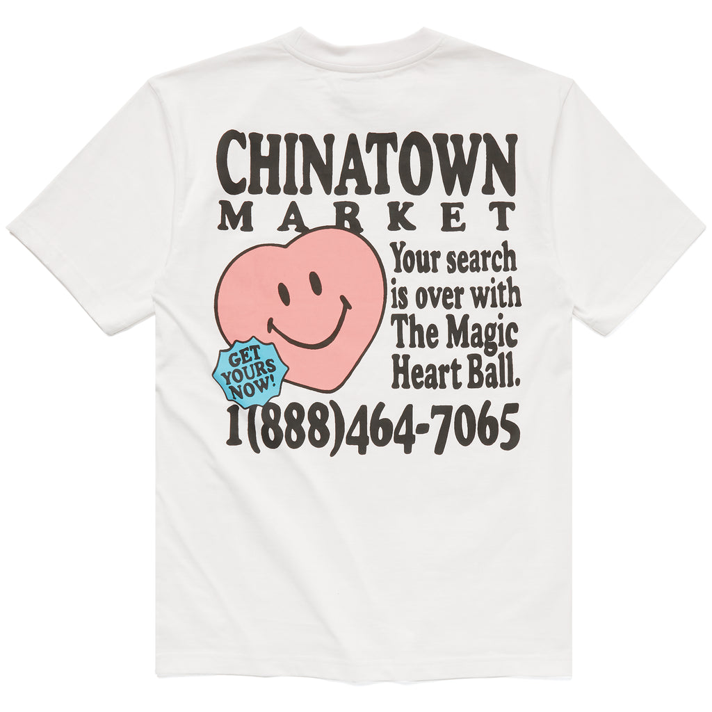 CHINATOWN MARKET FORTUNE BALL SOULMATE TEE WHITE
