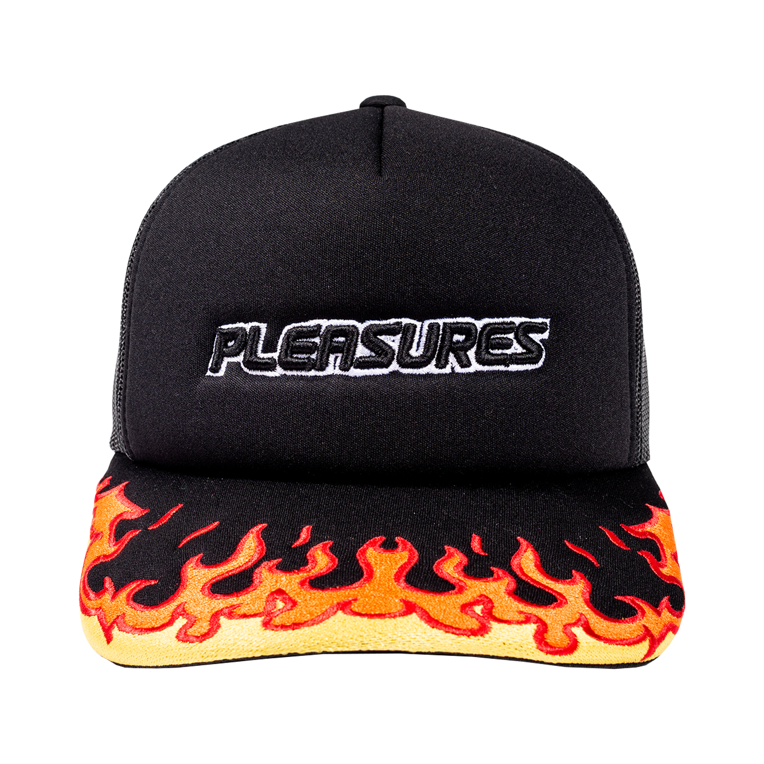 BURN EMBROIDERED TRUCKER SNAPBACK