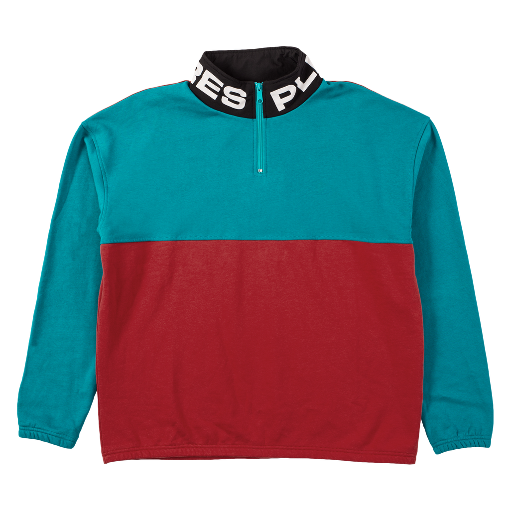 MISFIT COLOR BLOCK HALF ZIP SWEATER