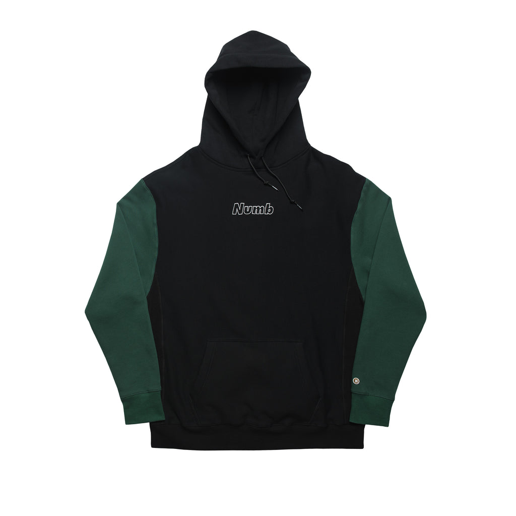 LOGO HOODED SWEATSHIRT BLACK/FOREST GREEN