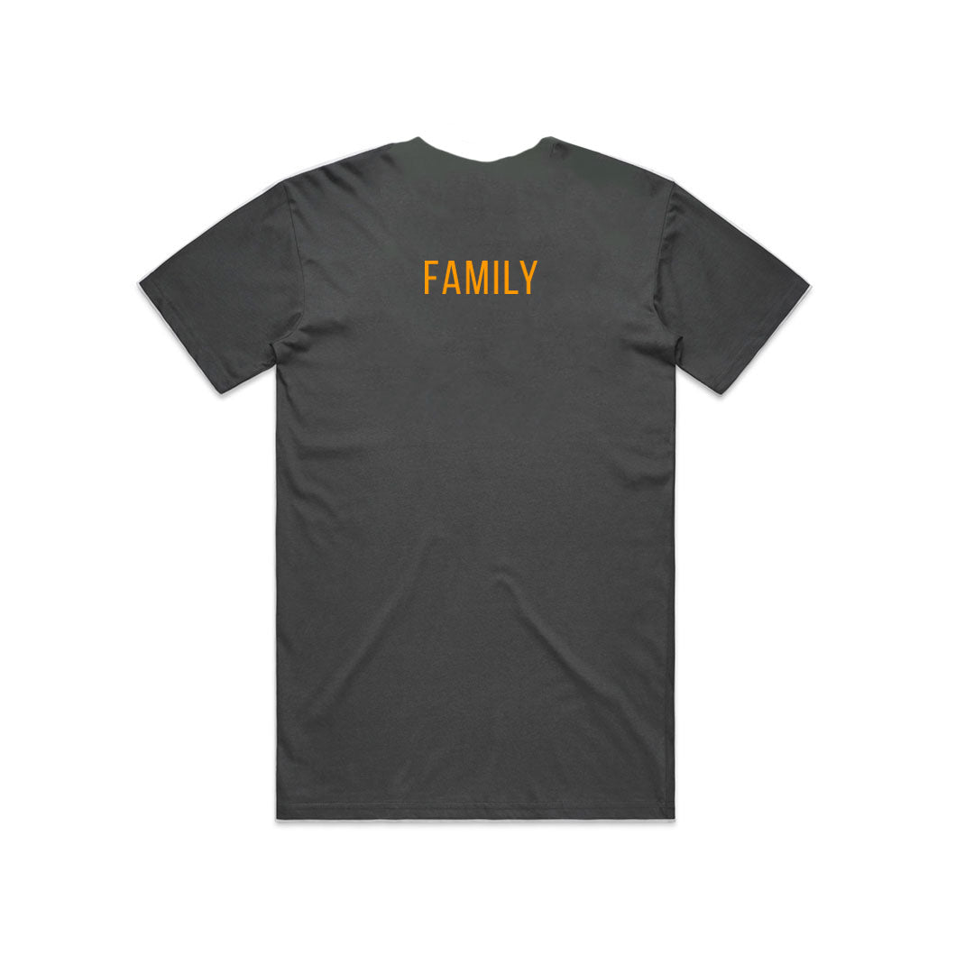 BUTTER FAMILY TEE CHARCOAL