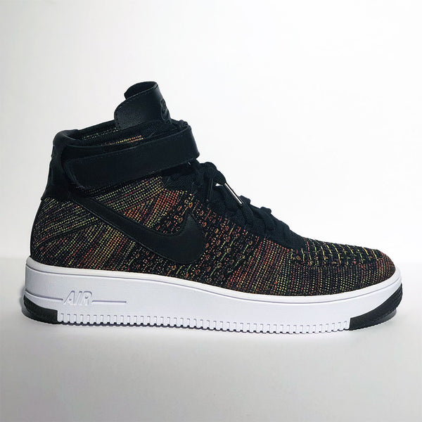 Air Force 1 Mid Flyknit Multi Color Black