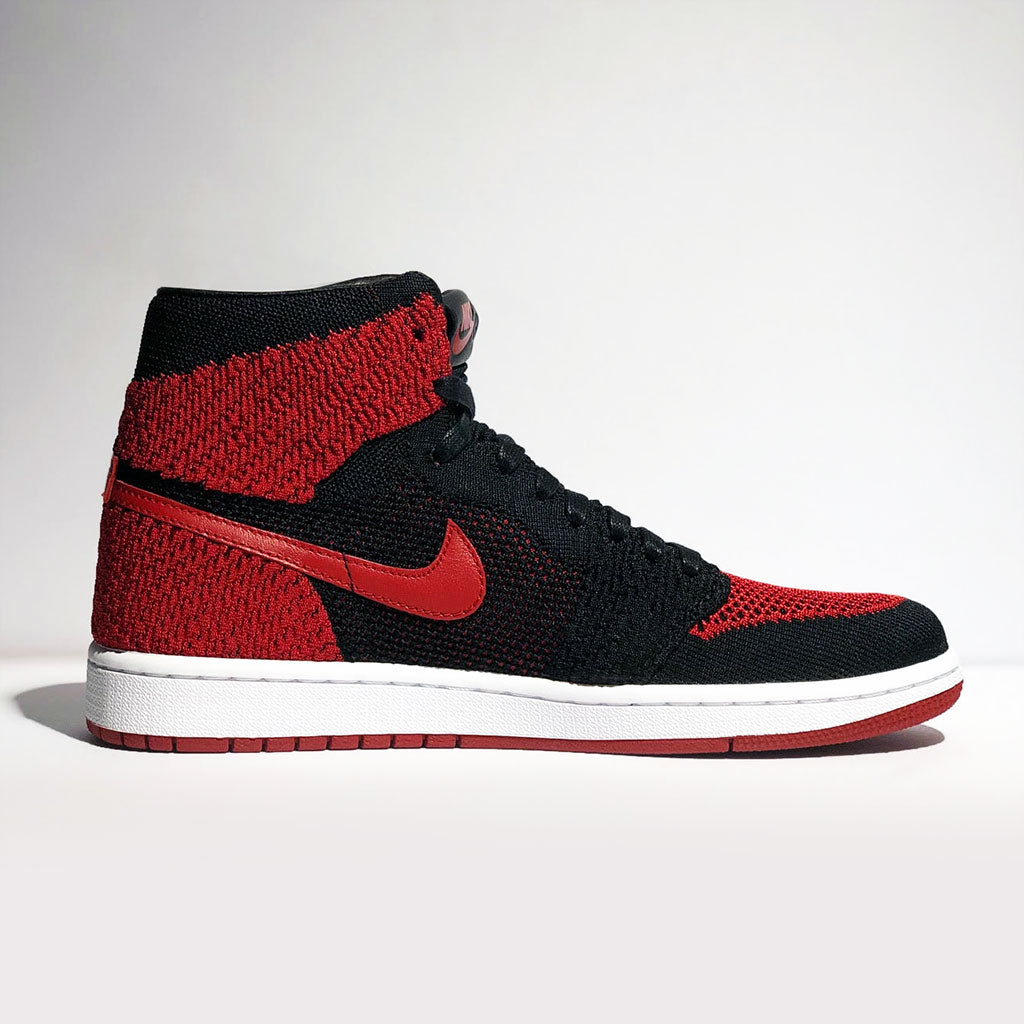 6eba6ac8d1b9 Air Jordan 1 Retro High Flyknit  Bred  – Butter