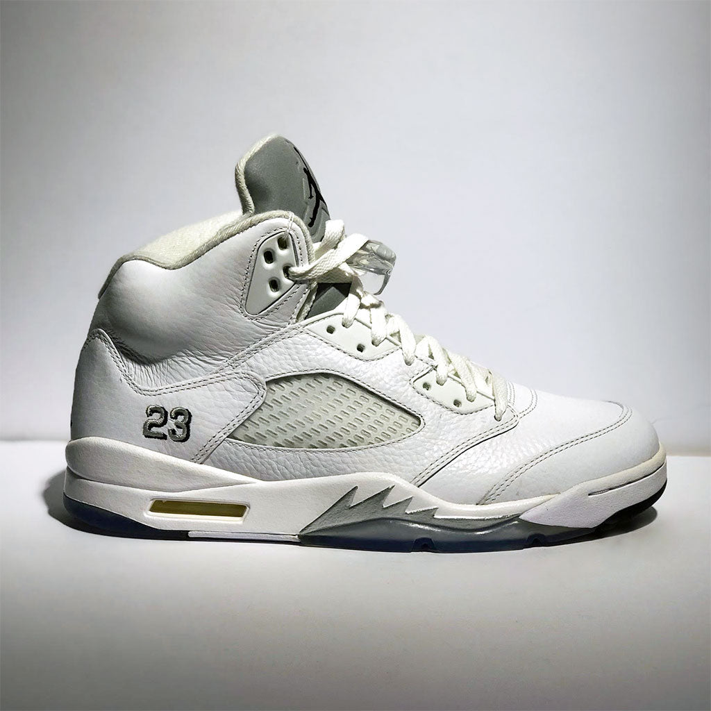 567419aa Jordan 5 Retro White Metallic – Butter