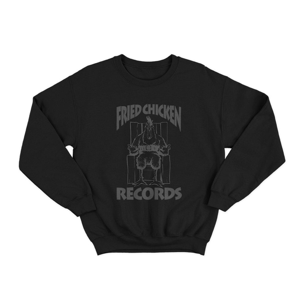 BUTTER FRIED CHICKEN RECORDS REFLECTIVE BLACK SWEATSHIRT