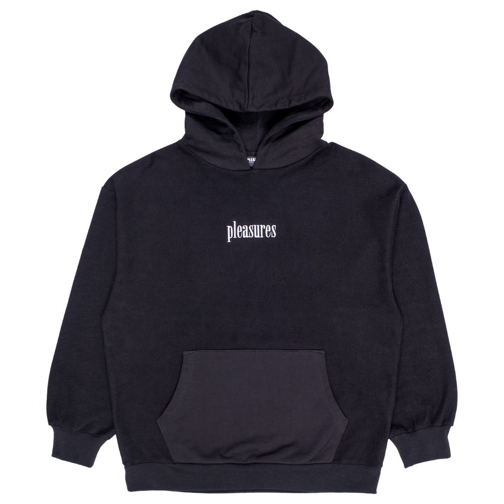 PLEASURES LOGIC REVERSE TERRY HOODIE BLACK