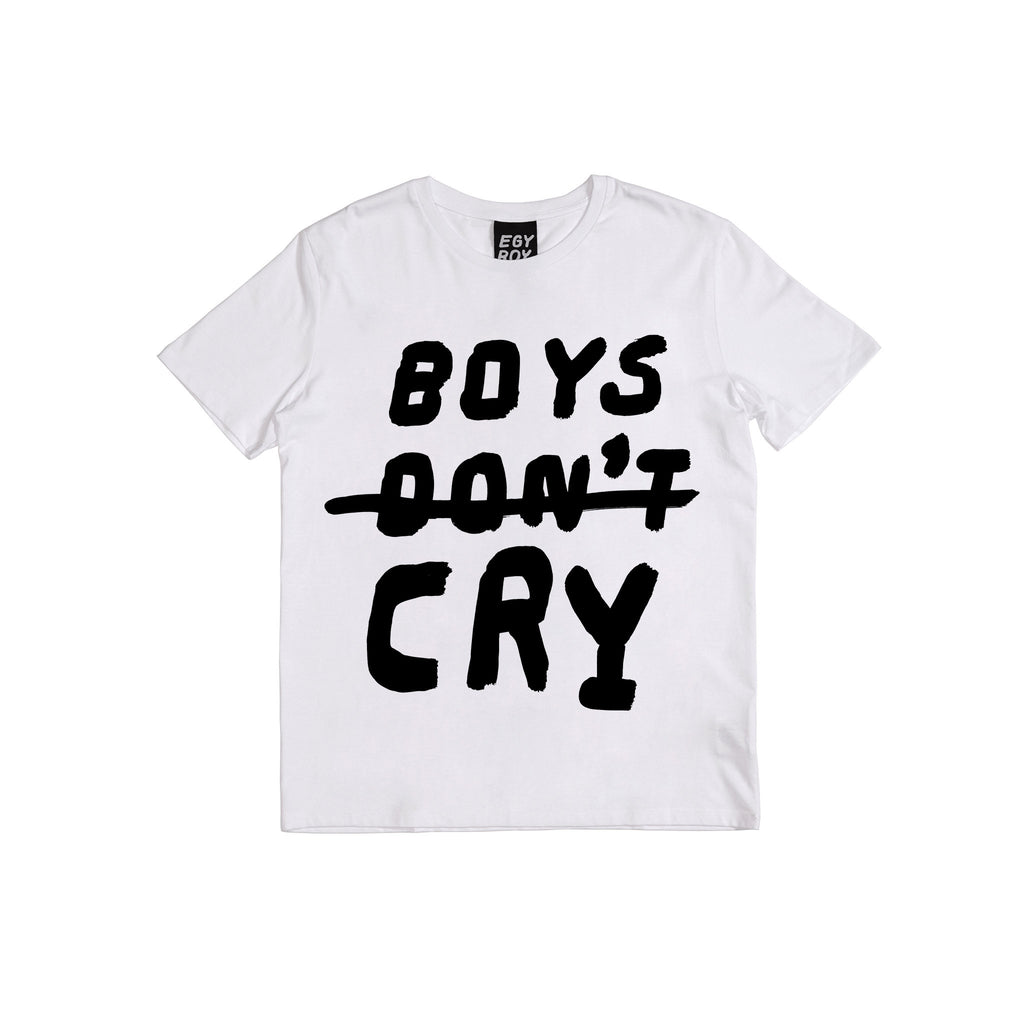 Boys Don't Cry Tee Egyboy T-Shirt White