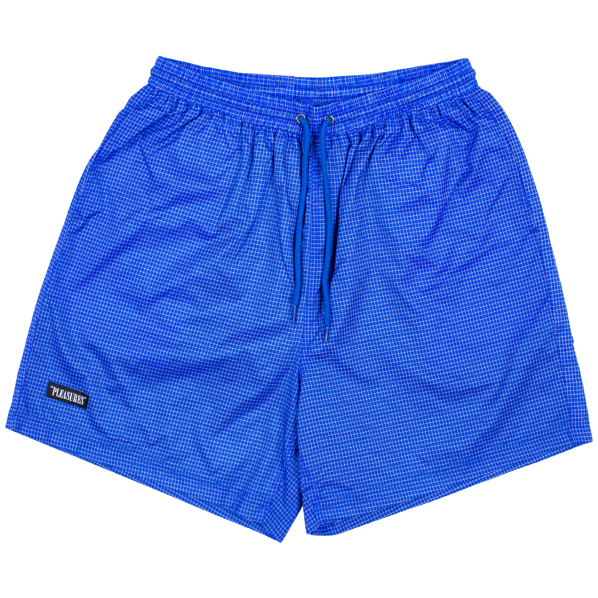 PLEASURES BRICK ACTIVE SHORTS BLUE