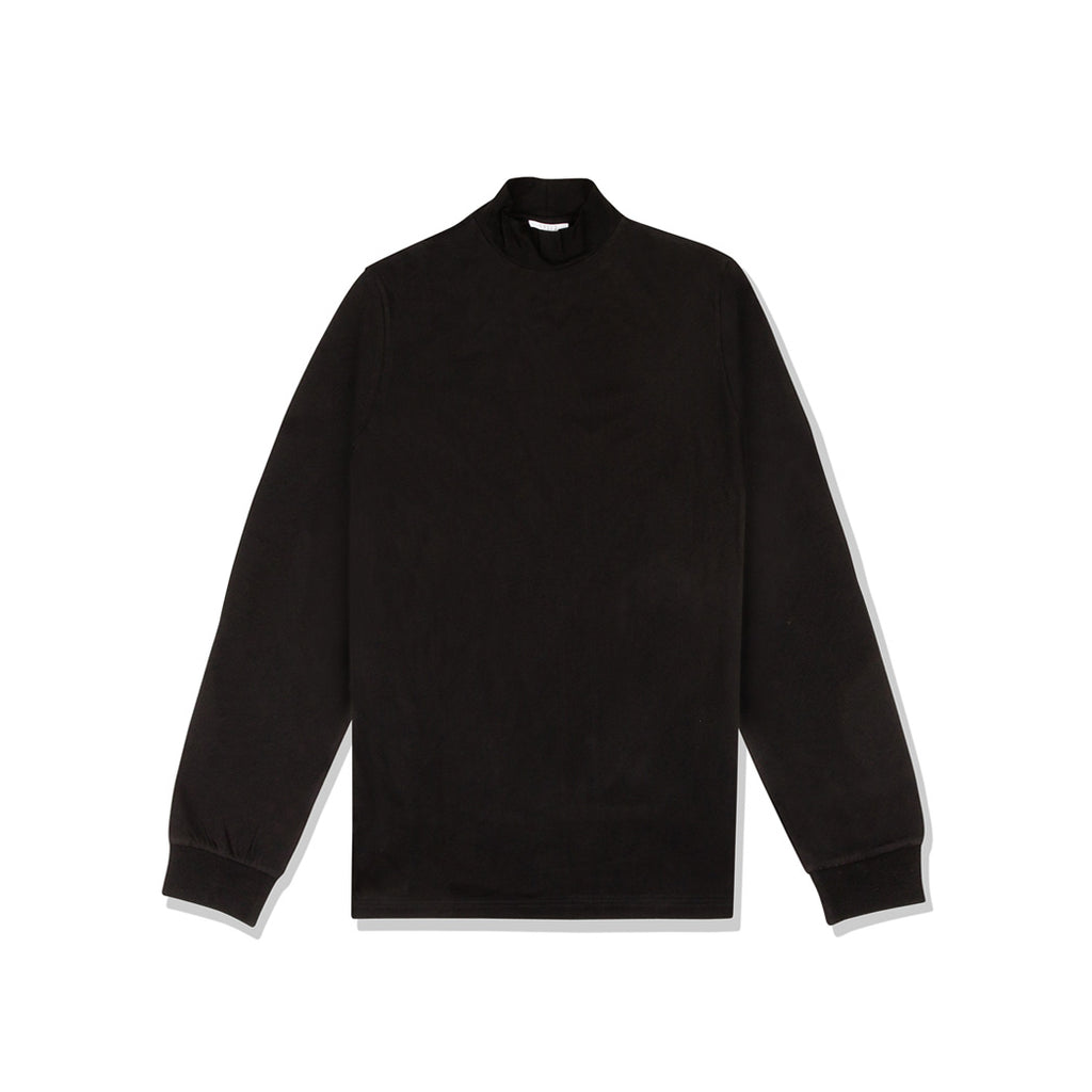 CARLO CARLO MOCK NECK LONG SLEEVE BLACK